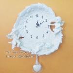 นาฬิกาติดผนังแบบแขวน สไตล์โรมัน รูปคิวปิดน้อย 3 ตัว