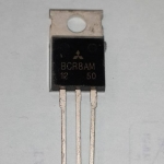 BCR8AM-12ไตรแอคควบคุมไฟACTRAICตัวถังTO-220หลังสีดำBCR8AM12ราคา