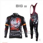 **สินค้าพรีออเดอร์**ชุดปั่นจักรยาน ROCK RACIN แขนยาวขายาว มี 2 สี ขาว/ดำ