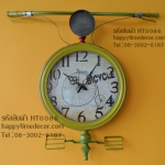 นาฬิกาแขวนผนังวินเทจเก๋ๆแนวๆ ทรงแฮนด์จักรยานสีเหลือง