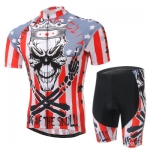 **สินค้าพรีออเดอร์**ชุดจักรยาน king of the skull(เสื้อแขนสั้น + กางเกงเอี้ยมปั่นจักรยาน)