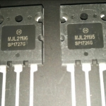 MJL21195+MJL21196ขายเป็นคู่TRANSISTERPOWERAMPตัวถังTO-264ยี่ห้อON-SEMICONDUCTERราคาคู่ล่ะ