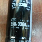 3300UF250VDC105cขนาดเส้นผ่านศูนย์กลางอ้วน35มมสูง60มม(35x60mm)ราคา