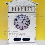 นาฬิกาแขวนติดผนังวินเทจ สีขาว สามารถเปิดข้างในเพื่อแขวนกุญแจได้