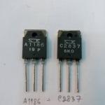 2SA1186+2SC2837ขายเป็นคู่ตัวถังTO-247ยี้ห้อSANKENของแท้ทรานซิสเตอร์ขยายเสียงราคาคู่ล่ะ