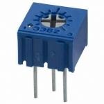 50โอหม์ 3362P-1-501LF 50R Trimpot 1 Turns, 50Ω,±10%, 0.5 w VRทริมพอร์ตเกือกม้าสีฟ้าทรงนอน3ขาVR3362Pตัวล่ะ