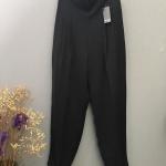Vintage pant : กางเกงวินเทจเอวสูง สีดำ ผ้าโพลีเอสเตอร์เนื้อดี พร้อมซับใน