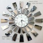 นาฬิกาโมเดิร์นแขวนติดผนัง ดีไซน์กังหันกระจกเงาสวยเก๋สุดอลังการ