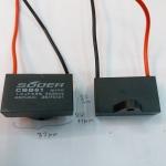 C1UF450VACมีสายไฟยี้ห้อSUOERรุ่นCBB61กว้าง37มมสูง22มมหนา11มม.ราคาตัวล่ะ