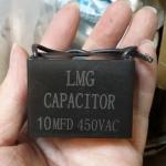 C10UF400VACราคาCเหลี่ยมดำยีห้อSKมีสายไฟขนาดกว้าง38mmสูง29มมหนา19มม(38x29x19mm)ยี่ห้อSEIKAของไต้หวัน