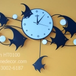 นาฬิกาติดผนังเก๋ๆ รูปปลาเทวดาประดับมุก