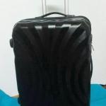 กระเป๋าเดินทางไฟเบอร์ 20 นิ้ว ลายพัดสีดำ ราคาพิเศษ