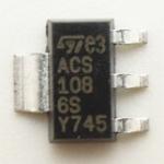 ACS108-6S,ตัวถังSOT-223ชนิดIGBT25A1200Vยี่ห้อSTMICROELECTRONICราคาตัวล่ะ,ACS1086S,ไตรแอคSWICTHAC600V0.8A