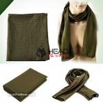 ผ้าพันคอทหาร Military Scarf : Army Green รหัส SC006