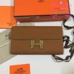 Hermes constance clutch wallet สีน้ำตาล งานHiend