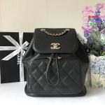 Chanel Backpack Grained Calfskin Business Affinit สีดำ งานHiend Original