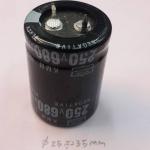 C680UF250VDC105cเส้นผ่านศูนย์กลางอ้วน25สูง35มม 25x35mm