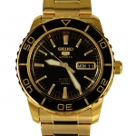 นาฬิกา Seiko Automatic Sports Mens Diver Watch Gold SNZH60K1