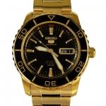นาฬิกา Seiko Automatic Sports Mens Diver Watch Gold SNZH60K1