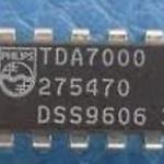 TDA7000 FM radio circuit DIP18