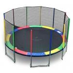 แทรมโพลีน 16 ฟุต สีรุ้ง สปริงบอร์ด trampoline ขนาดใหญ่สุด เหมาะสำหรับออกงาน
