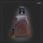 LT27 กระเป๋าสะพายไหล่ กระเป๋าคาดอก หนัง Crazy Horse PU