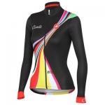 **พรีออเดอร์** เสื้อแขนยาวปั่นจักรยานผู้หญิง สีดำ ลวดลายสวย