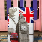 กระเป๋าเดินทางลายธงชาติอังกฤษ และหอนาฬิกา ขนาด 28 นิ้ว