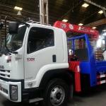 รถบรรทุก10ล้อ ติดเครน UNIC รุ่น UR-V554K ใหม่ ขนาด 5ตัน 4ท่อน กระบะเหล็กท้ายลาด ไฮดรอลิค