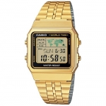 CASIO รุ่น A500WGA-1D DATABANK World time Lady Watch