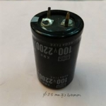 C2200UF100VDC105cขนาดอ้วน25MMสูง40MM105องศาขาเขี้ยวลงปริ้นยี้ห้อNIPON