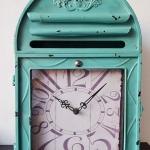 นาฬิกาแขวนผนัง (หรือตั้งโต๊ะก็ได้) รูปตู้ ปณ สีเขียว