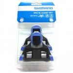 CLEAT คลีทเสือหมอบ Shimano SPD-SL SM-SH12 สีฟ้า
