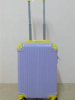 กระเป๋าเดินทาง ไฟเบอร์ ล้อลาก ขนาด 20 นิ้ว สีม่วงมุมเหลือง