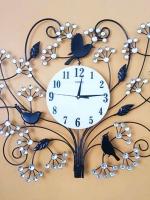 นาฬิกาติดผนัง รุ่นนกช่อพลอยขาว