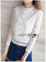 Cara Classic Vintage With Lace Blouse