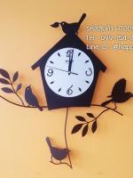 นาฬิกาประดับบ้านแนว Modern รุ่นบ้านนกดำ