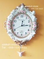 นาฬิกาติดผนังประดับบ้านวินเทจ ไม่เหมือนใคร งานเรซิ่นสวยคลาสสิค