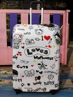 กระเป๋าเดินทางล้อลาก ลาย Loves Happiness 28 นิ้ว