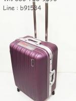 กระเป๋าเดินทาง คันชักคู่ สีม่วง ขอบอลูมิเนียม 24 นิ้ว
