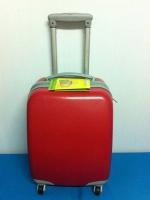 กระเป๋าเดินทางขนาดเล็ก 16 นิ้ว 4 ล้อ สีแดง
