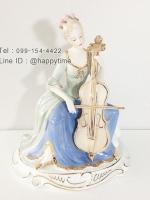 ของขวัญขึ้นบ้านใหม่สุดคลาสสิค ตุ๊กตาเรซิ่นหญิงสาวเล่นดนตรี