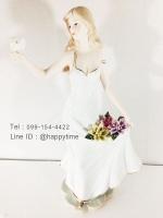 ของขวัญขึ้นบ้านใหม่ตกแต่งบ้าน ตุ๊กตาเรซิ่นสวยๆรูปหญิงสาวชุดขาวถือนกพิราบ
