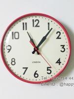 นาฬิกาติดผนัง London สีแดง