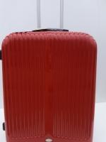 กระเป๋าเดินทาง รหัส 8021 แบรนด์ POLONAISE สีแดงสด เนื้อ PC คุณภาพดี ขนาด 28 นิ้ว