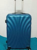 กระเป๋าเดินทางราคาถูก 24 นิ้ว ลายพัดสีน้ำเงิน ของใหม่ คุณภาพดี