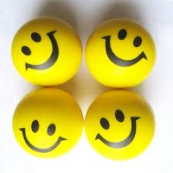 บอลบีบสำหรับบริหารมือ หน้ายิ้มสีล้วน