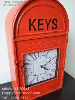 นาฬิกาเก๋ๆแขวนได้ตั้งโต๊ะได้ ดีไซน์รูป ตู้ ปณ สีแดง