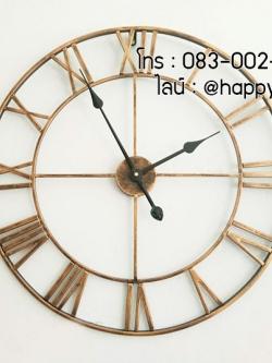 นาฬิกาแขวนผนังขนาดใหญ่ตกแต่งบ้านใหม่สวยๆ แนวลอฟท์ตัวเลขโรมัน