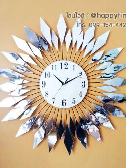 นาฬิกาติดผนัง Modern design รุ่นใบกระจกเหลี่ยม